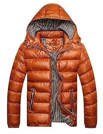 Sisaki Herren Winterjacke Steppjacke Jacke mit Stehkragen