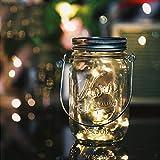 Aons Solar-Laterne Wasserdichte, 20 LEDs leuchtet Perlen Glas Hängeleuchte Outdoor String Laterne Dekoration für Zuhause Party Garten Hochzeit (Warmweiß)