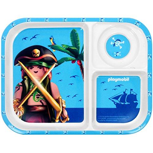 Promobo - Plateau Repas Assiette Enfant Licence Playmobil Garçon Pirate