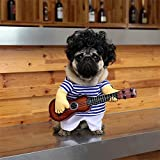 DELIFUR Pet Guitar Costume Dog Costumes Halloween Christmas Cosplay Party Funny Outfit Clothes (XL)