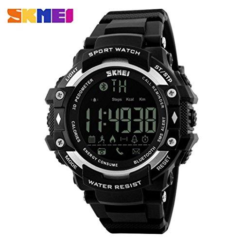 SO-buts 2018 Neue/Intelligente Uhr/Handy Bluetooth Uhr/Sport Wasserdichte Smartwatch (Silber)