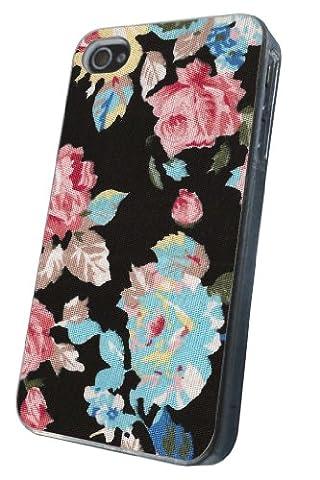 Coque Iphone 44S millésime roses fleurs rétro shabby chic vintage