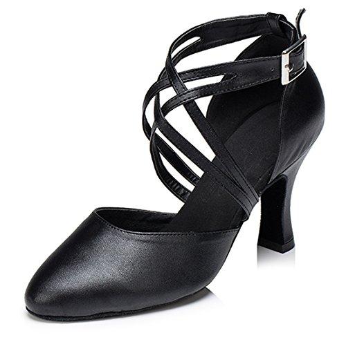 TDA , Damen Durchgängies Plateau Sandalen mit Keilabsatz 8cm Heel Black