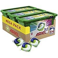 Ariel 3en1 PODS Color - Detergente En Cápsulas Superconcentrado: Limpia Y Mantiene El Brillo Del Color, 114 Lavados (3 x 38)