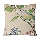 simpledecorjacquard Vogel auf der Baum Schwerpunkt Tagesdecke dekorativ Kissenbezug handbemalt Kissenhülle Mignon traditionellen chinesischen Malerei 45,7x 45,7cm, Motiv 1, 18 x 18