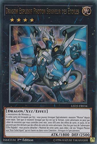 Carte YU-Gi-Oh!Dragon Explosif Photon Seigneur des Etoiles : LED3-FR034 -VF/Ultra Rare-