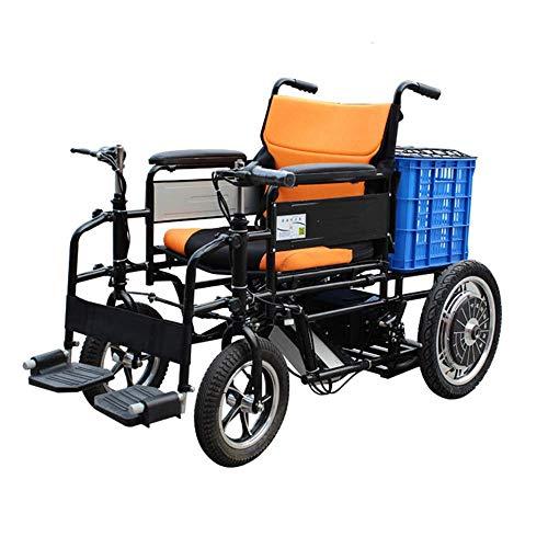 TWL-Wheelchair Faltbarer Elektrorollstuhl, 4-Rad-Elektroroller für Ältere Menschen -