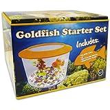 World Of Pets - Goldfish Starter Kit Includes Fish Bowl Gravel & Plant