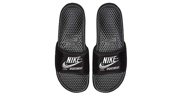 size 40 810e0 ccf8b Nike Benassi JDI Txt Se Flip Flops Men Black 38.5  Amazon.co.uk  Shoes    Bags