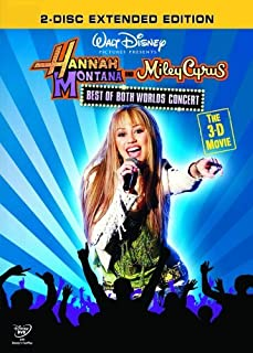 Hannah Montana and Miley Cyrus - Best of Both Worlds 3-D Concert [DVD] (B001D07Q12) | Amazon price tracker / tracking, Amazon price history charts, Amazon price watches, Amazon price drop alerts