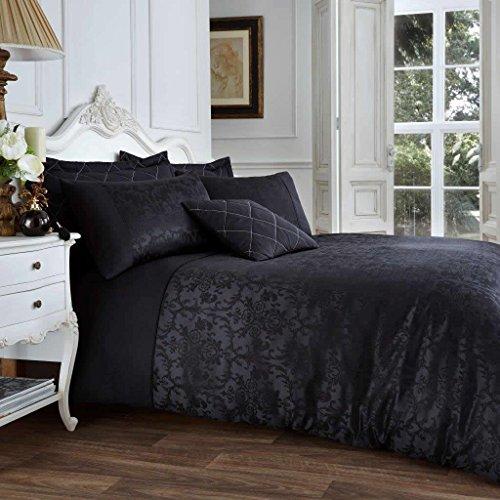 Gaveno Cavailia jacqaurd Außenwandleuchte Set mit Bettbezug und Kissenbezug, Polyester-, schwarz, King