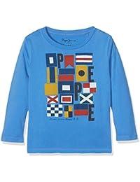 Pepe Jeans Jarred, Camiseta Niñas, Azul (Middle Blue), 8 años