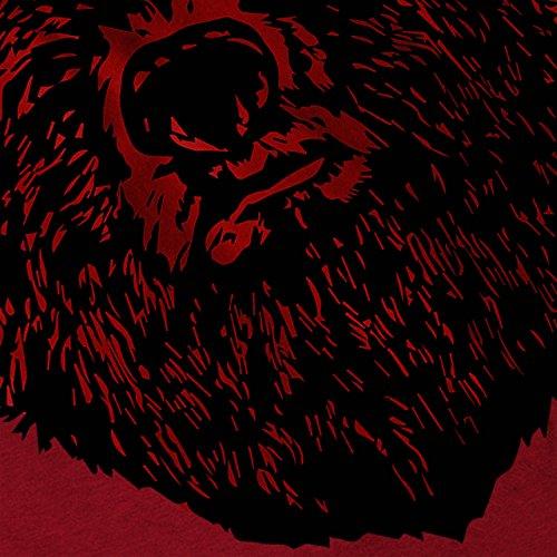 Rot Bär Gesicht Wild Tier Kunstwerk Damen S-2XL Muskelshirt | Wellcoda Rot