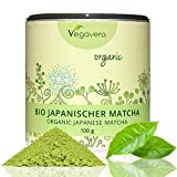 Bio Té Verde Matcha Orgánico | Antioxidante + Energía y Vitalidad + Concentración + Estado de Ánimo + Pérdida de Peso + Detox | 100g en polvo | Producto BIO | Cosechado en Japón | Calidad Premium | Producto alemán | Instrucciones en español | Vegano, sin gluten