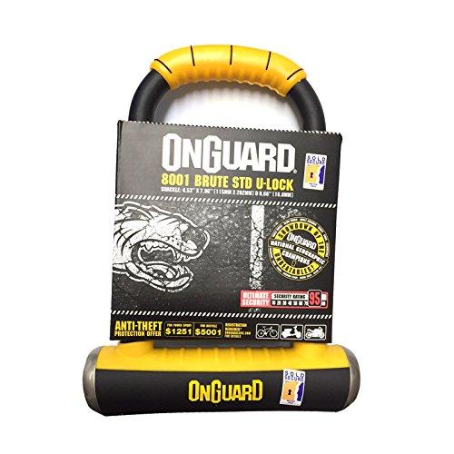 Onguard Bügelschloss Brute STD 8001Bike U Lock-Verkauft Secure Gold - Std Hardware