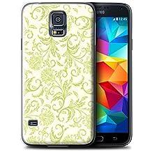 Carcasa/Funda STUFF4 dura para el Samsung Galaxy S5 Neo/G903 / serie: Estampado de flores - Flores amarillas