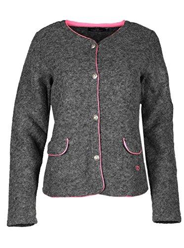 Zwillingsherz Strickjacke Damen - Hochwertige Trachtenjacke perfekt für Das Oktoberfest mit Seitentaschen - Ergänzung zum Dirndl/Cardigan Blazer Wolljacke pink
