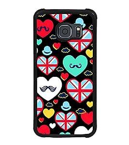 PrintVisa Designer Back Case Cover for Samsung Galaxy S6 G920I :: Samsung Galaxy S6 G9200 G9208 G9208/Ss G9209 G920A G920F G920Fd G920S G920T (love heart valentinesday shapes lover)