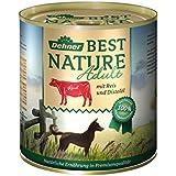 Dehner Best Nature Hundefutter, Adult Rind und Reis mit Distelöl, Probiergröße, 400 g