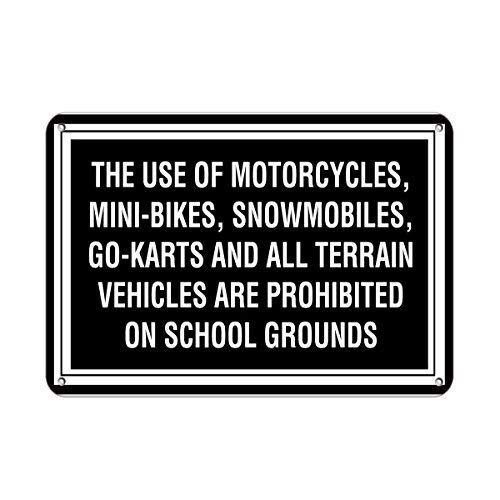 HNNT Aluminum Metal Sign for Wall Decor 12x16 INCHES Personalized Metal Signs for Outdoors Motorcycle Bike Snowmobile Go-Karts,Vehicles Prohibited Aluminum Metal Sign