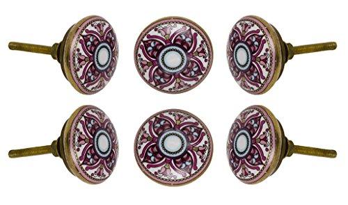 Juego de 2 Pomos de cajón de gabinete de cerámica de El Cairo Alacena de gabinete de cocina Tira de Trinca-Ferro