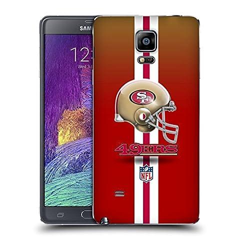 Officiel NFL Casque San Francisco 49Ers Logo Couvercle Batterie de remplacement pour Samsung Galaxy Note 4