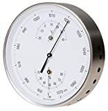Fischer Edelstahl Wetterstation Barometer Bimetall-Thermometer Hygrometer Ø 130mm, Farbe: Weiß