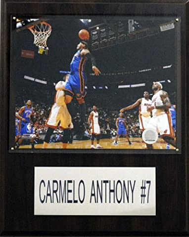 NBA Carmelo Anthony New York Knicks Player Plaque