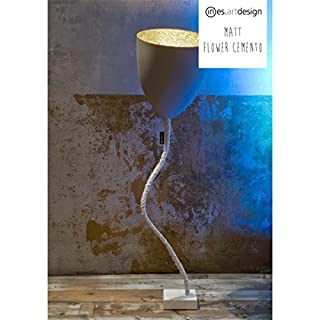 In-es.artdesign Flower Cemento, floor lamp, E27, grey/Orange