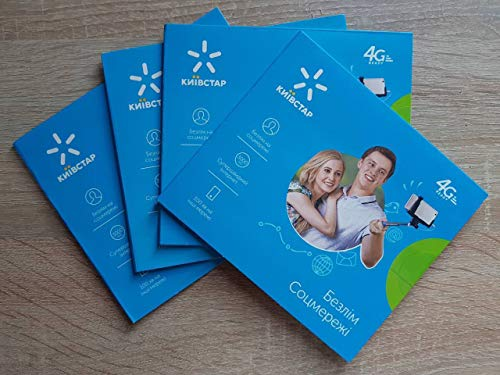 Ukraine Prepaid SIM Card Kyivstar Activated 4G Cheap Roaming Worldwide Standard, Nano and Micro SIM
