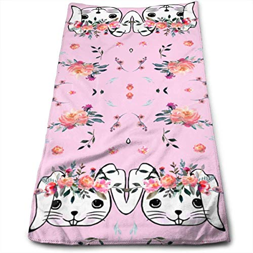RAINNY Easter Bunny Head Pink Towels Multi-Purpose