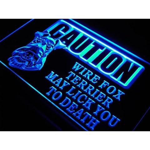 Insegna al neon s194-b Caution Wire Fox Terrier Lick Neon Light Sign