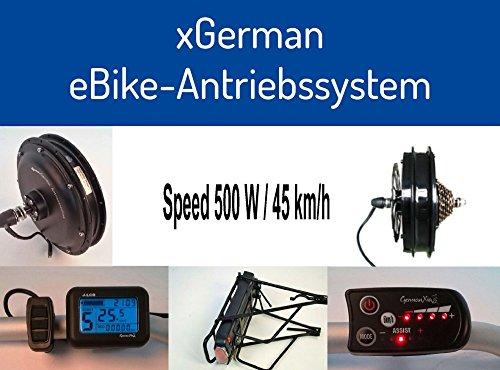 Sonder-Aktion: xGerman Nachrüstsatz 500W/36V, 26\' Vorderradantrieb mit LCD-Display & Trinkflaschen-Akku 11,6 Ah
