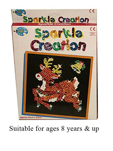 Childrens Reindeer Sequin Sparkle Creation Pin Art and Craft Set Christmas