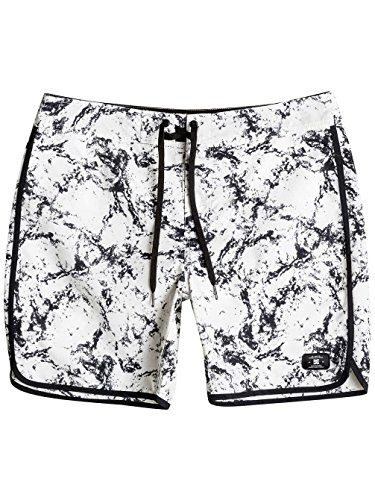 """Dc Shoes Burlison 17"""" - Board Shorts Para Hombre LILY WHITE STORM PRINT"""