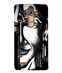 For LG G4 -Livingfill- Indian God Shiva Printed Designer Slim Light Weight Cover Case For LG G4 (A Beautiful One of the Best Design with a Classic Theme & A Stylish, Trendy and Premium Appeal/Quality) (Red & Green & Black & Yellow & Other)