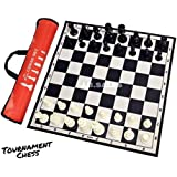 S.P. Chess 17 X 17 Inch Fide-Standards Professional Tournament Chess Board Game with Chessmen and Red Bag (32 Pieces)