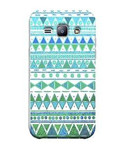 PrintVisa Designer Back Case Cover for Samsung Galaxy J1 (6) 2016 :: Samsung Galaxy J1 2016 Duos :: Samsung Galaxy J1 2016 J120F :: Samsung Galaxy Express 3 J120A :: Samsung Galaxy J1 2016 J120H J120M J120M J120T (Blue Green Diamond Design)