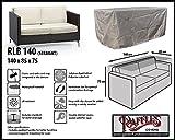 RLB140straight Hülle für Lounge Bank, Rattan Gartensofa oder Lounge Sofa, 2 Personen, passt am besten am Sofa von max. 135 x 80 cm. Schutzhüllen für Bank, Schutzhülle für Lounge Bänke, Abdeckhaube Schutzhülle Schutz-Plane für gartenbank gartensofa