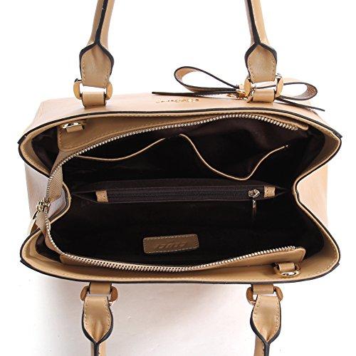 Espacio Libre En Línea Barata De Bienes Amazonas CLUCI Vera Pelle Borsa Donna Sacchetta Tote a Mano Spalla Top-Handle Leather Bag Designer 5-Marrone SvbrV