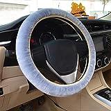 Lenkradhülle Auto Plüsch kurz warme dicke Lenkradabdeckung weich Winter Universal Lenkradbezug rutschfest atmungsaktiv Lenkrad Abdeckung anti-Rutsch Lenkradschutz bequem steering wheel cover