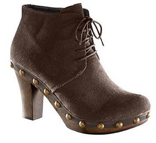 Unbekannt  Pumps, Chaussures de ville à lacets pour femme Marron - Marron