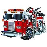 azutura Red Fire Truck Wandtattoo Feuerwehr W...Vergleich