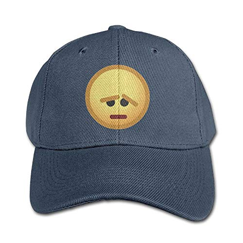 Personality Caps Hats Aggrieved Emoticon Pure Color Baseball Cap Cotton Adjustable Kid Boys Girls Hat