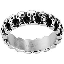 joyliveCY 2018 la moda mujer elegante hombres de acero inoxidable dedo anillo con relleno con Compatible
