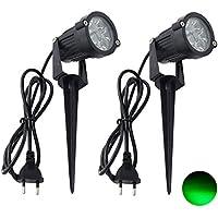 5W//10W LED Gartenlampe Bodenstrahler COB Scheinwerfer Rasen Licht wasserdicht