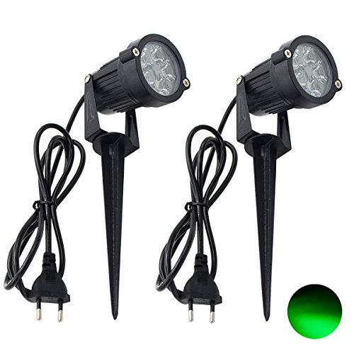 2 Packs, 5W LED Impermeable IP65, Luz de Paisaje al Aire Libre...