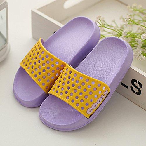 DogHaccd pantofole,Pantofole donne indoor estate anti-bagno Slip maschio, è esposta una 3-rimanere morbido di un paio di pantofole fresco La porpora3