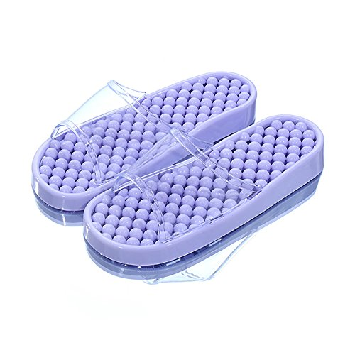 TELLW Pantofole da Bagno per Uomo e Donna Indoor Home Points Pedicure Scarpe Coppie Non-Slip Bagno Fresco Estate Pantofole Viola chiaro