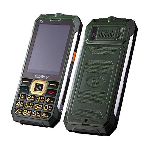 HKFV Mobiltelefon Entsperrt TV Handy Inhaber Telefon Englisch Tastatur Dual Sim Outdoor Taschenlampe Handy (Armeegrün) (Handy Dual Sim Entsperrt Quad-band)